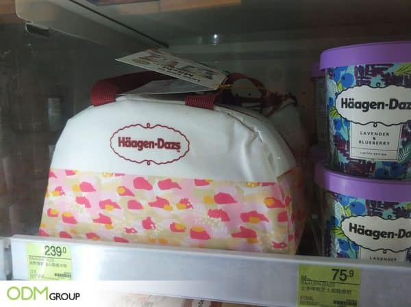 Custom Cooler Bag -Promotional Product by Haagen-Dazs