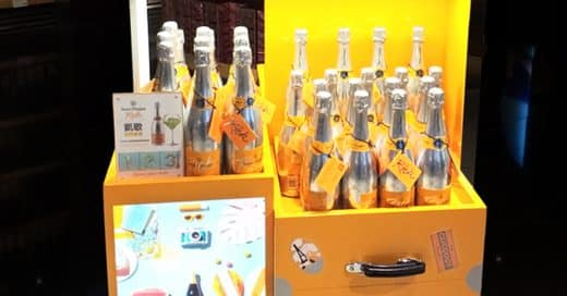 Creative Champagne POS Display by Veuve Clicquot