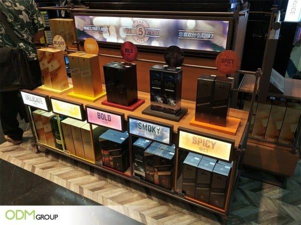 Custom Display Shelf - How The Whiskey Five Stood Out