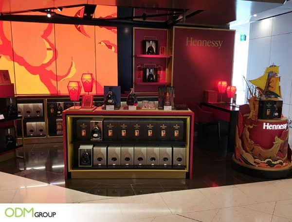 Exclusive Promotional Drinks Display for Hennessy.