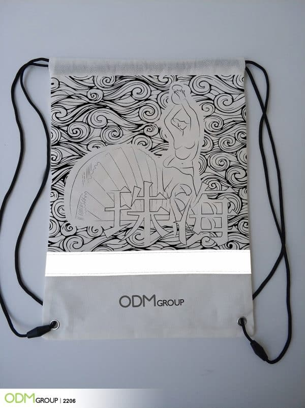 Making a Brand Statement with Reflective Promotional Drawstring Bag