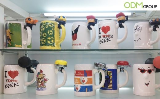 Promotional Football shaped mugs perfect for customization that can be focused to your own brand taking advantage of the World cup.