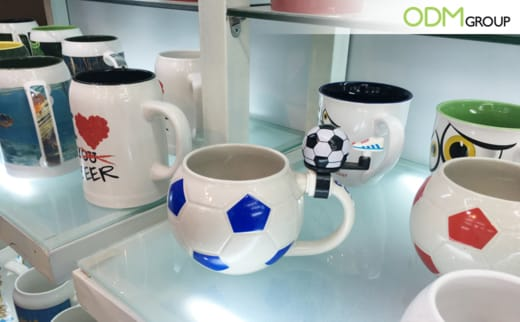 Promotional Football shaped mugs perfect for customization