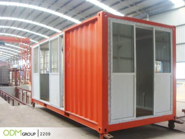 Shipping Container for Promotional Merchandise Shop