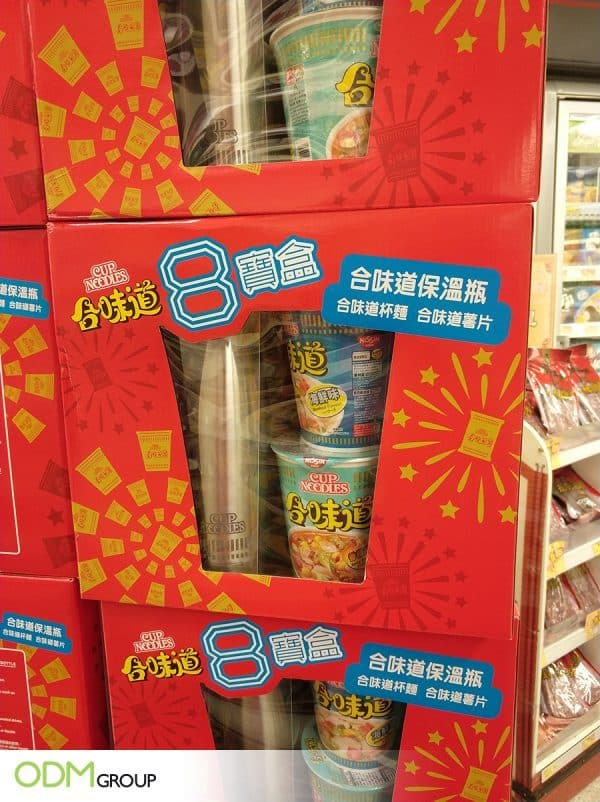 Promotional Flask - On-Pack Promo Gift From Nissin Cup Noodles
