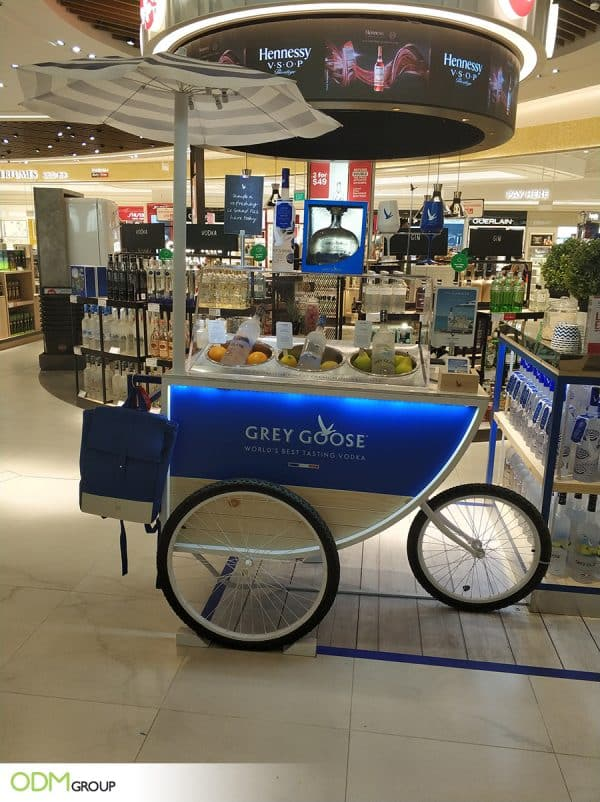 Bespoke Shop Display Upholds Grey Goose Brand Quality
