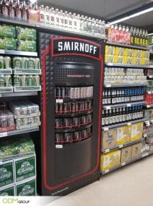 Smirnoff's Eye-Catching Custom Beverage Display