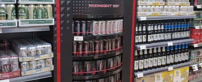 Smirnoff's Eye-Catching Custom Beverage Display