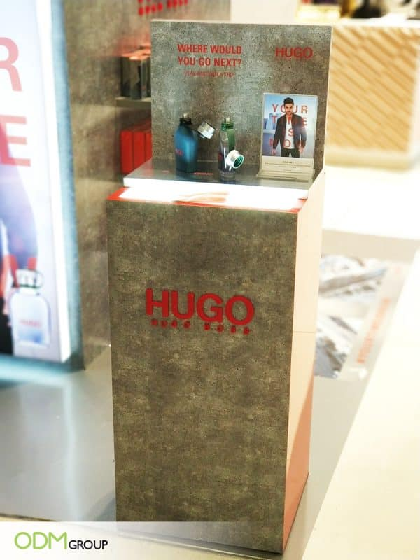 Bold Perfume POS Display for Hugo Boss Advertising Campaign.