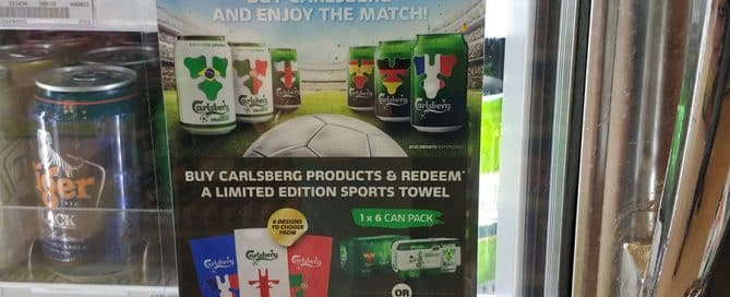 Carlsberg Offers Customers a Branded Sports Towel