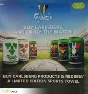 Carlsberg Offers Customers a Custom Sports Towel