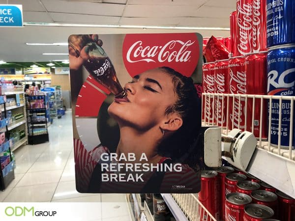Coke Promotes Their Brand With Cool Shelf Talker Ideas