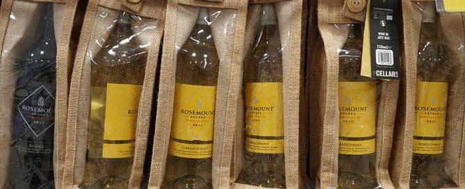Custom Canvas Wine Bag