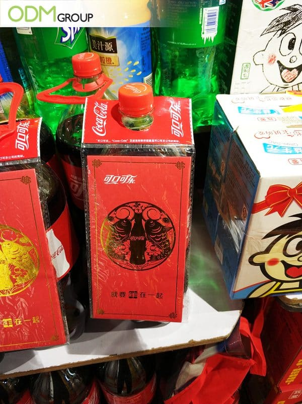 Custom Money Envelope Coca Cola's Bottle Neck Gift for Chinese New Year
