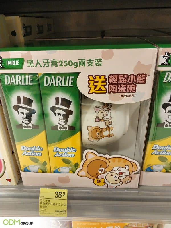 Darlie's promo strategy: co-branding with Rilakkuma in a branded gift pack