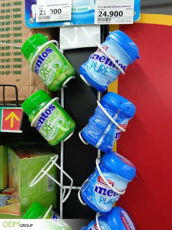 Mounted Display Stand by Mentos: Both Useful and Effective
