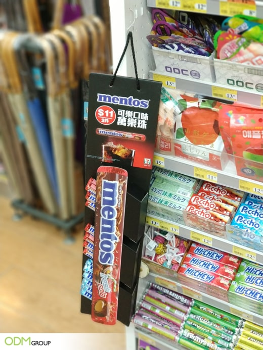 POS Display Manufacturer Example - Mentos Creative Marketing
