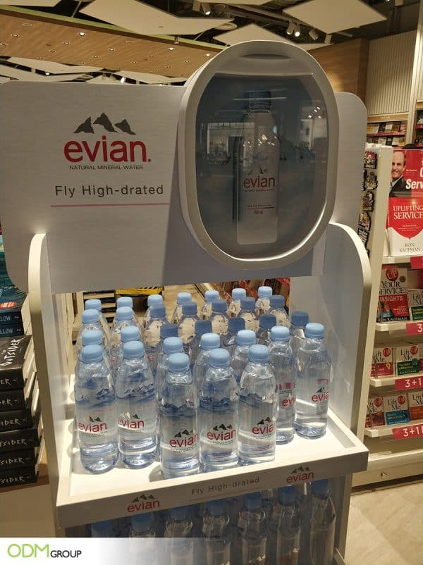 Sophisticated Retail POS Display Gets People Talking About Evian