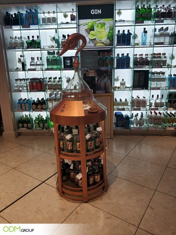 Informative Yet Creative POS Gin Display By SipSmith LondonStimulate Customer Engagement and Boost Sales with Prize Draw Promotion