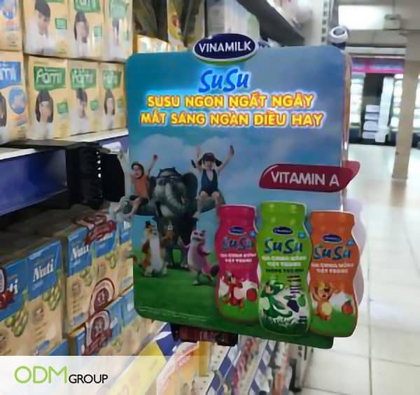 Innovative In-Store Display Marketing Strategy By Vinamilk