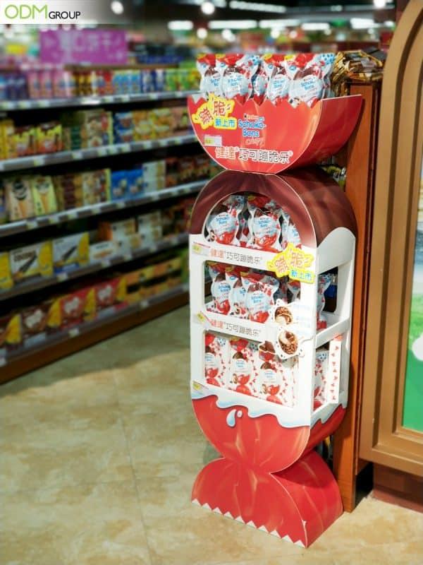 Impressive Free-Standing Shop Display Boosts Kinder's Brand Traction