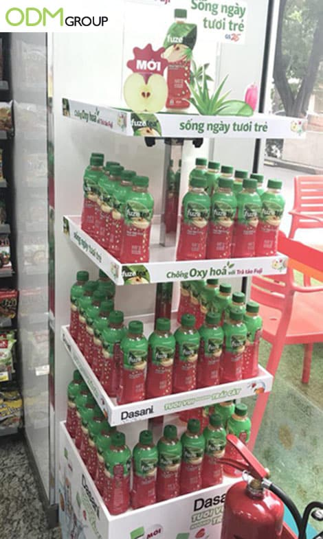 Fuze Tea Gains More Customers With Promotional Display Rack