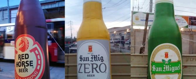 Beer Brands Fire up Event with Massive Inflatable Outdoor Display