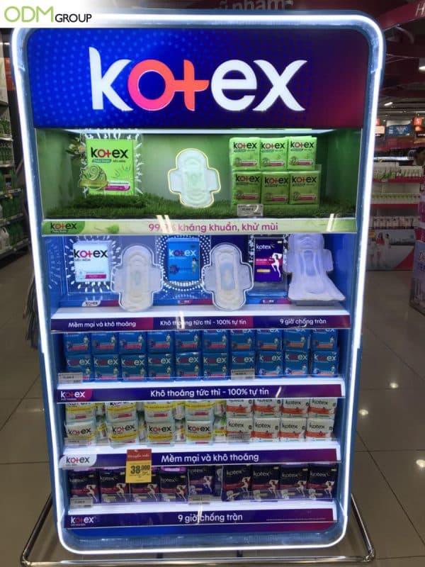 Utilizing LED Custom Display To Spark Curiosity -Example by Kotex