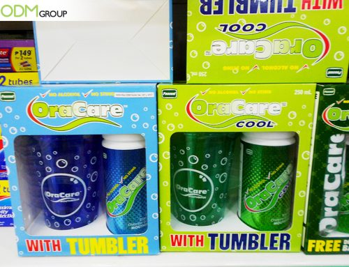 OraCare Shows Benefits of Logo Plastic Tumbler As On Pack Gift