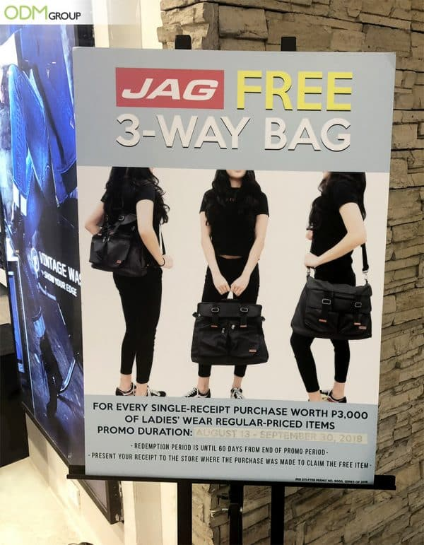 Jag Rewards Their Customers With a Branded Giveaway Bag