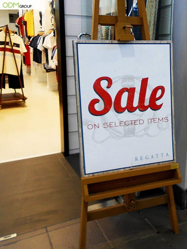Advertising Easel - Cost-Effective In-Store Marketing Solution by Regatta