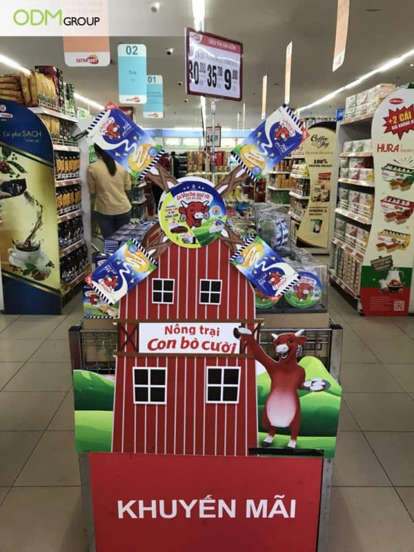 Striking Branded POP Display By The Laughing Cow Gains Massive Attention