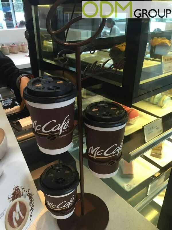 Branded Counter Display in McCafe