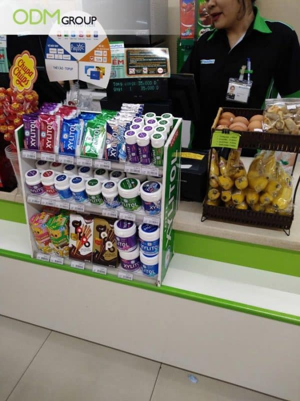 Branded Counter Display by Family Mart
