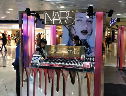 Interactive Cosmetic Display Counter: Brand Activation by NARS