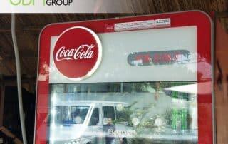 POP Display Manufacturer - Coca Cola's LED Back-lit Signage