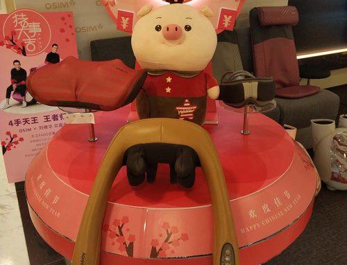 OSIM Wows Customers with a CNY-Themed Bespoke POS Display
