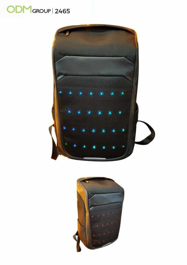 Unique Custom Promotional Gifts - LED Backpack