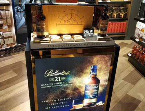 Travel Retail Display: Ballantine's Excellent Airport Marketing