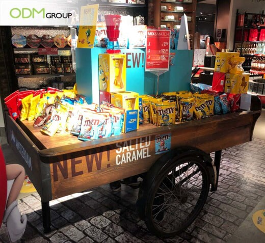 Branded Wooden Cart Display