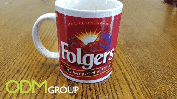 Folgers Kickstart Its Marketing With A Promotional Ceramic Mug