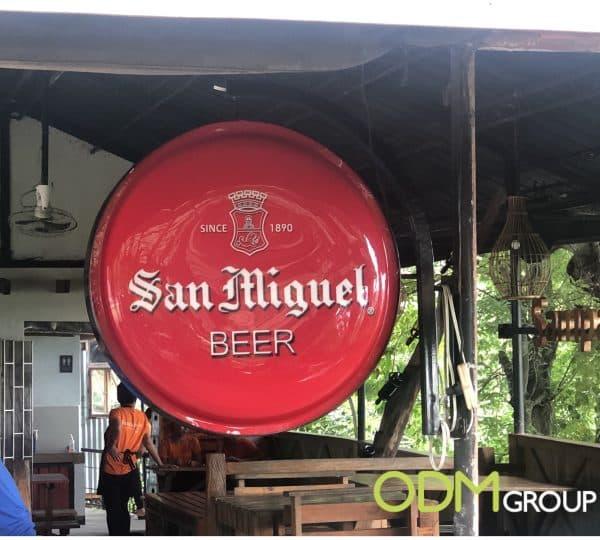 Light Up Signage San Miguel Beer's Secret in Bar Promotion