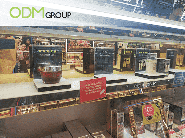 promotional cosmetic display