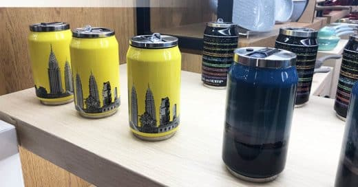custom can shaped bottle