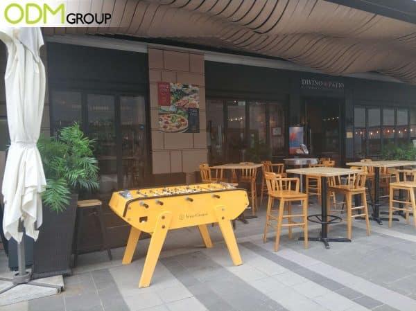 branded foosball table