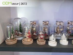 wooden snow globes