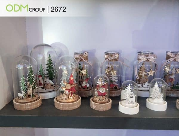 wooden snow globes