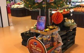Supermarket Advertising Display