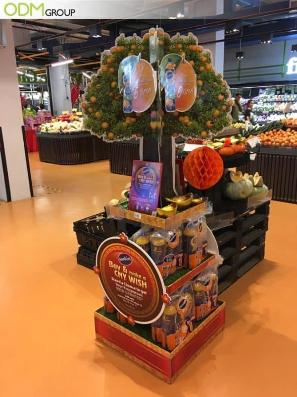 Supermarket Advertising Display