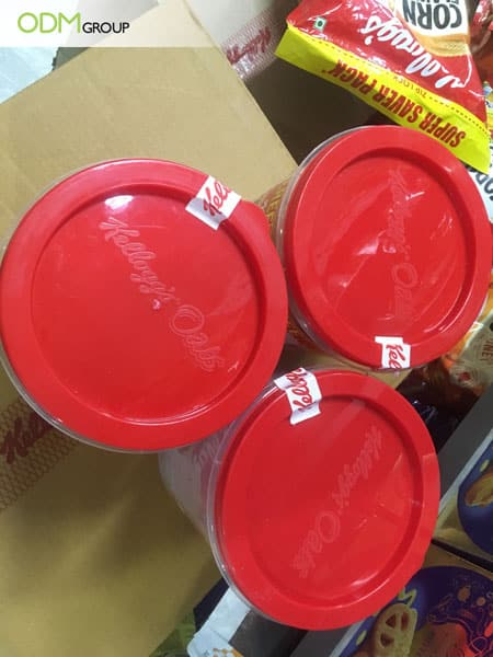 Branded food storage containers